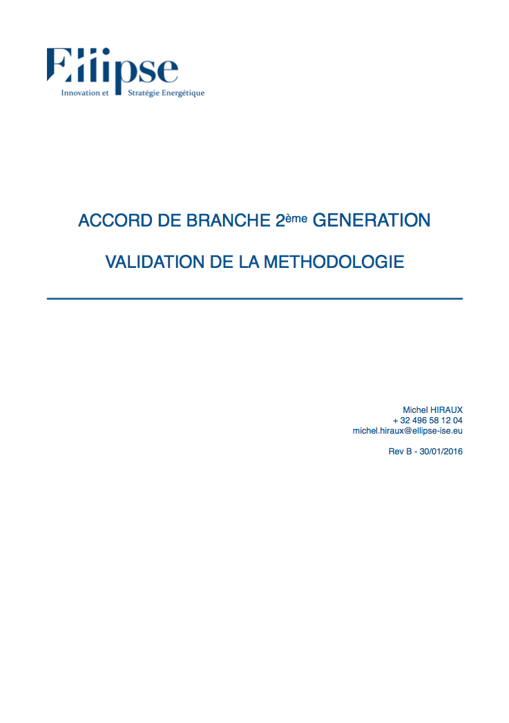 Validation méthodologie